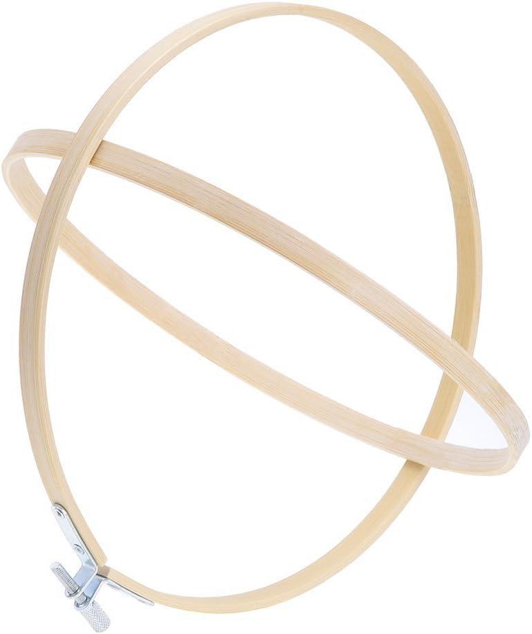 Pllieay 26 cm Cercle /à broder en bambou