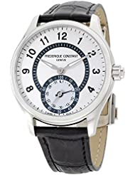 Frederique Constant HSW Silver Dial Black Leather Strap Mens Watch FC285SDG5B6