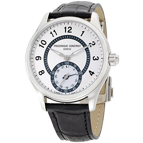 Frederique Constant HSW Silver Dial Black Leather Strap Men's Watch FC285SDG5B6