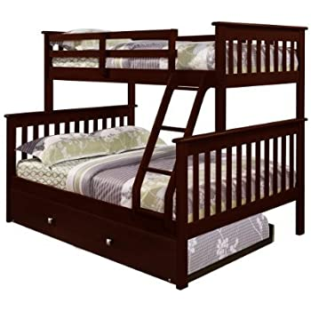 Amazon Com Bunk Bed Twin Over Full Mission Style In