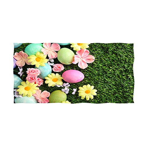 microfiber bath towel colorful easter eggs and spring blossoms ap 5 -