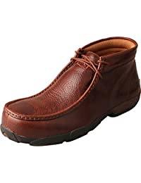 Twisted X Casual Shoes Mens Rubber Driving Mocs Padded Cognac MDMCTW1