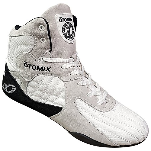 (Otomix Men's Stingray Escape Bodybuilding Lifting MMA & Wrestling Shoes White 15)