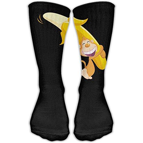 YUANSHAN Socks Monkey Banana Women & Men Socks Soccer Sock Sport Tube Stockings Length 11.8Inch -