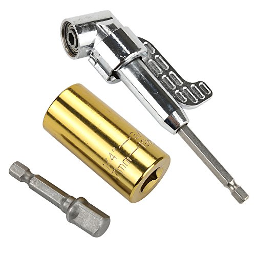 Breynet 105 Degree Right Angle Drill Bit Drive Attachment Screwdriver Bit, Universal Socket Grip Adapter Socket Set Metric Wrench Power Drill Adapter 1/4 inch to 3/4 inch Professional Repair Tool by Breynet (Image #3)
