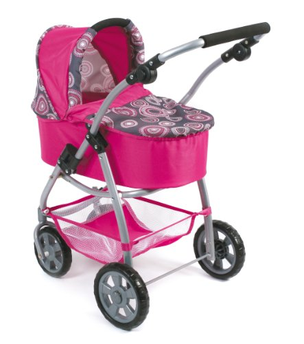 CHIC 2000 3-in-1 Bayer Combi Emotion Pearls Doll's Pram (Hot Pink)