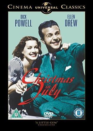 Christmas In July Movie.Christmas In July Dvd Amazon Co Uk Dick Powell Ellen