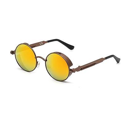 Fabrik feine handwerkskunst wähle authentisch DAWILS Damen Runde Gläser Verspiegelte Brille John Lennon Retro Vintage  Polarisierte Sonnenbrille