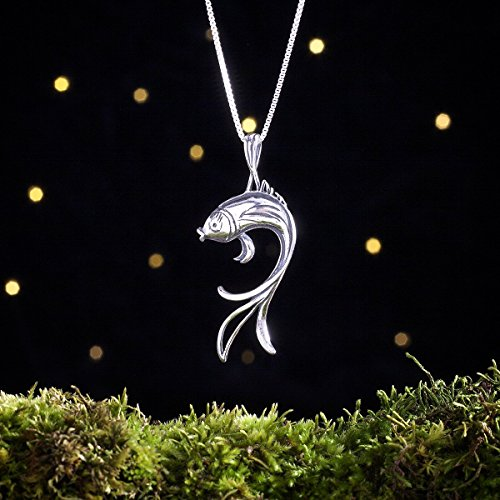 Sterling Silver Butterfly Koi Fish - (Pendant or Necklace) ()