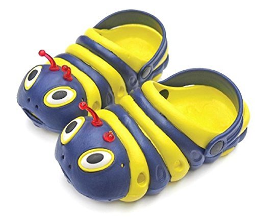 Image of Children's All-Weather Novelty Animal Clogs Toddler Thru Little Kid Sizes (9.5, Blue & Yellow)