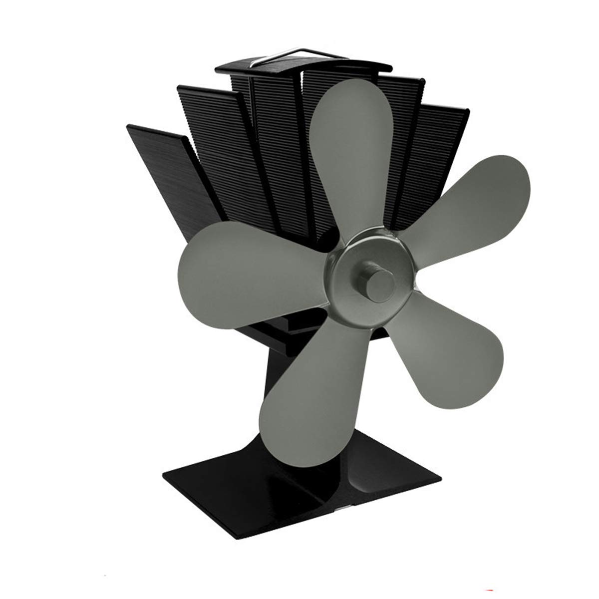 EVA DE EVA Large Stove Fan 5 Blade Fireplace Heat Powered Komin Wood Burner Eco, Wood Fireplace Fan - Wood Heat Stove, Eco Fan Blade, Fireplace Heater Fan, Wood Stove Fans by EVA DE EVA