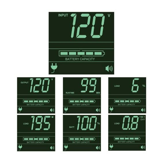 Tripp Lite Smart 1000VA Sine Wave UPS Back Up, 6 Outlets, 800W Line-Interactive, 2U Rackmount, LCD, USB, DB9 (SMART1000RM2U) 3 1 Kilo Volt Ampere 800 Watts UPS Battery Backup Power Supply with AVR, Sine Wave output & interactive LCD monitoring 120 Volt NEMA 5 15P input, 6 NEMA 5 15R outlets 4 switchable via network interface Supports a half load of 400 watts on battery for 15 minutes