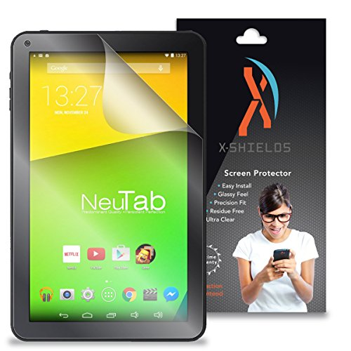 "XShields© High Definition (HD+) Screen Protectors for Neutab N10 10.1"" Tablet (Maximum Clarity) Super Easy Installation [2-Pack] Lifetime Warranty, Advanced Touchscreen Accuracy"
