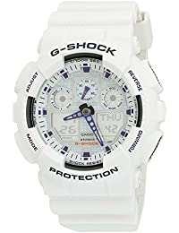G-Shock GA100A-7A X-Large Men's White Resin Sport Watch