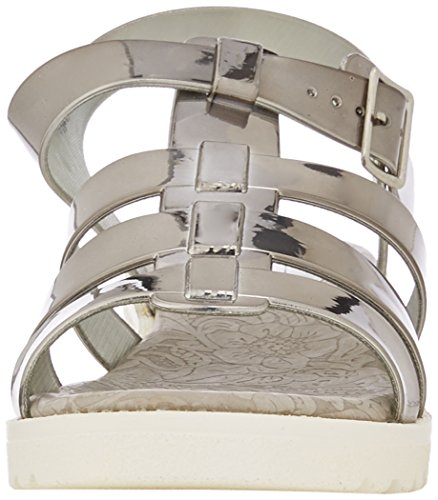 Spot OnF10445 - sandalias mujer Plateado - Silver (Pewter)