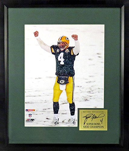 "Green Bay Packers Brett Favre ""Lambeau Snow"" 11x14 Photograph (SGA Signature Series) Framed"