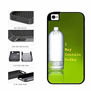 Funny I May Contain Vodka Dual Layer Phone Case Back Cover Apple iPhone 5 5s includes diy case Cloth and Warranty Label