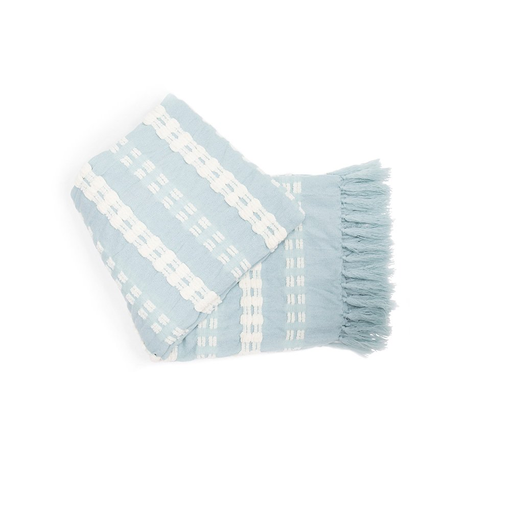 Battilo White Mosaic Modern Casual Warm Throw Blanket (Navy, 50x60) 50x60)