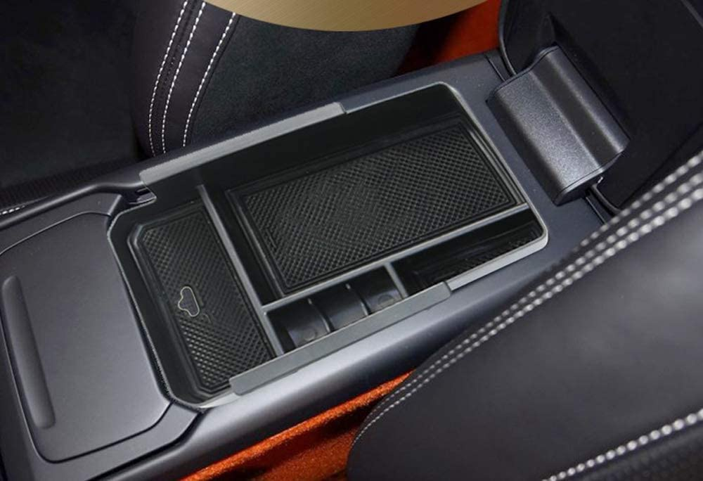 Salusy Car Center Console Armrest Box Glove Box Secondary Storage Tray Compatible with Volvo XC40 SUV 2019