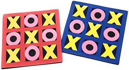 Foam Tic-Tac-Toe Game 12 Sets Tactile Puzzle OTTC Fun Party Favors Tactile Tic Tac Toe Bulk Toys Party Games Goody Bag Fillers