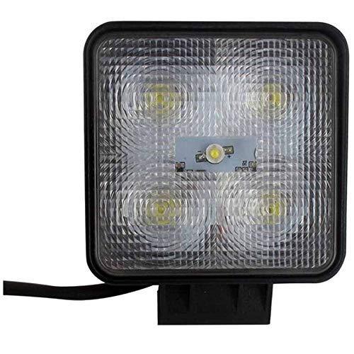 5 LED Arbeitsscheinwerfer Bi-Voltage 10-30V, 1100 Lumen, 5 x 3W = 15W Montage mit Schrauben, breiter Lichtstrahl 20 °  55 °, Maße  110 x 110 x 40 mm, Schutzart IP67