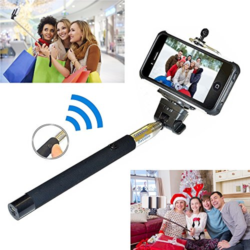 Selfie Stick iPhone 6 - Best Selfie Stick - Bluetooth Selfie Stick iPhone X 8 7 6 6s Plus SE 5 5s 5c - iPhone Selfie Stick with Remote (Black) Monopod Extendable Pole Galaxy S8 S7 S6 S5 S4 - DaVoice