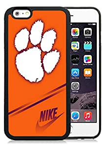 Beautiful Designed With NCAA Atlantic Coast Conference ACC Footballl Clemson Tigers 8 Protective Cell Phone Hardshell Cover Case For iPhone 6 4.7 Inch TPU Phone Case Black