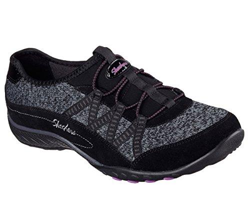 Skechers Donna Vestibilità Comoda Traspirante Easy Road Tripper Sneaker Nera