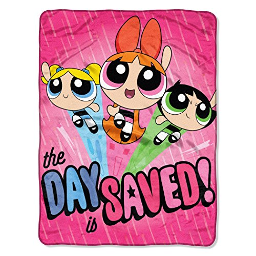 "Price comparison product image Northwest Powerpuff Girls, Day Saved Micro Raschel Throw Blanket, 46"" x 60"""