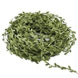 Artificial Vines,GTIDEA 132 Ft Fake Hanging Plants Silk Ivy Garlands Simulation Foliage Rattan Green Leaves Ribbon Wreath Accessory Wedding Wall Crafts Party Decor