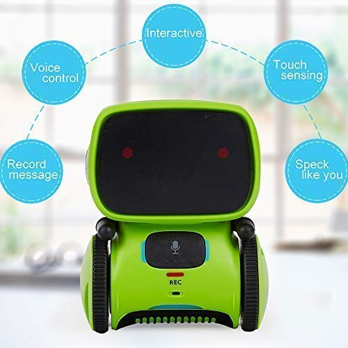 Yingtesi Smart Robot Interactive Toys for Age 3 Years Old Boys Girls Kids,Voice Command,Touch Control,Music and Sound Robotics Green by Yingtesi (Image #3)