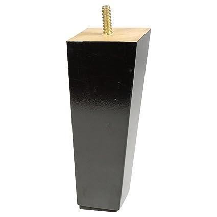4 x negro patas de muebles de madera de repuesto patas ...