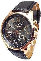 2016 Male Quality Leather Belt Casual Fashion Watches Three Six-Pin Quartz Watches Quartz Watch Black