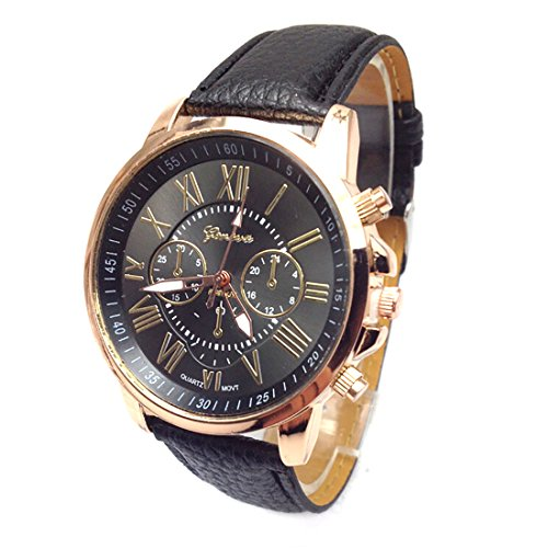 watches mens rigor guess gold s men brown belt leather products rose watch