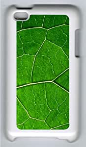 Apple iPod 4 Case and Cover - Leaf vein Custom Design Polycarbonate Hard Hard Plastic Case for iPod 4/ iPod 4th- White