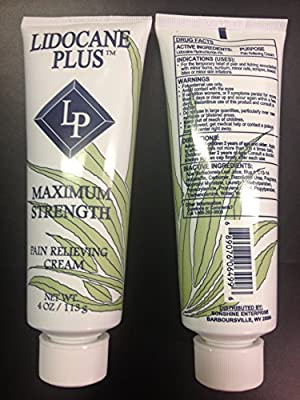Lidocaine Plus (Lidocaine 4%) Cream ~ 4oz