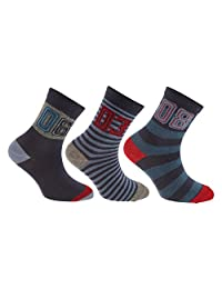 Childrens/Boys Cotton Rich Assorted Numbers Design Socks (Pack Of 3)