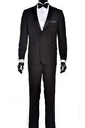 0f0eb0caf397 King Formal Wear Luxury Men's Black Tuxedo at Amazon Men's Clothing ...
