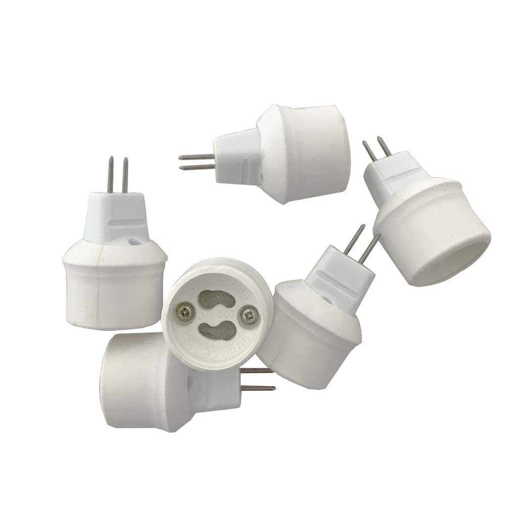 POLISI 6-pack MR16 to GU10 to MR16 converter adapter MR16 to GU10 Light Bulb Base Adapters/converter to Utilize GU10 Base Bulbs in a MR16 Socket
