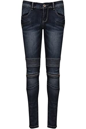 9f922df360e6 Damen-Jeans Frauen-Jeans-Denim Fit Jeans Knie Reißverschluss Klassische Hosengröße  34 36