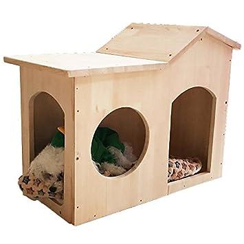 Jaula de madera Tedu Cuarto Trimestre común cama mascota perro de la casa de madera maciza