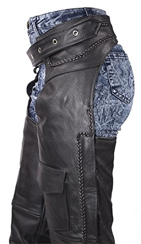 Braided Womens Leather Chaps With Insulated Liner 7XL