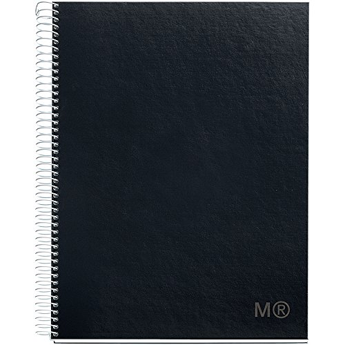 Candy Colors Spiral-Bound Ruled Notebook 8.5x11-Black