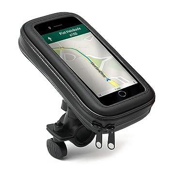 Soporte Moto, Bici - Moto, GPS, Bici- Funda - Carcasa Protectora, Impermeable - Compatible con TomTom , Garmin , Magellan , Nova , Apple iPhone 4 4S 5 ...