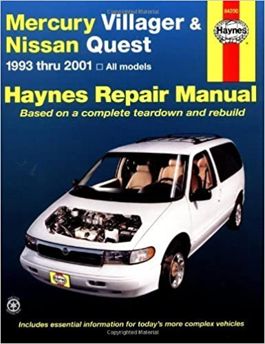 Mercury Villager and Nissan Quest, 1993-2001 (Haynes Repair Manuals) 2nd edition by Haynes, John (2002)