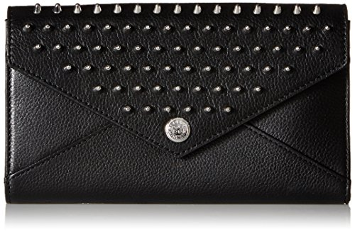 WALLET ON A CHAIN WITH STUDS, BLACK