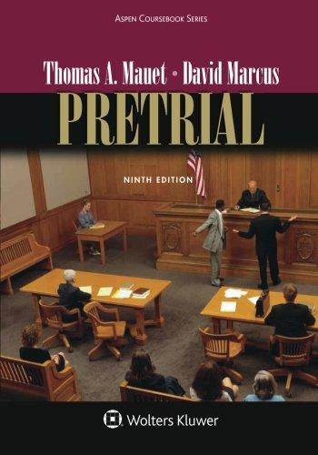 Pretrial (Aspen Coursebook) cover