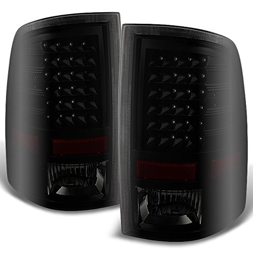 ForBlack Smoke 09-18 Dodge Ram 1500 10-18 Ram 2500 3500 Pickup Truck LED Tail Lights Pair Replacement