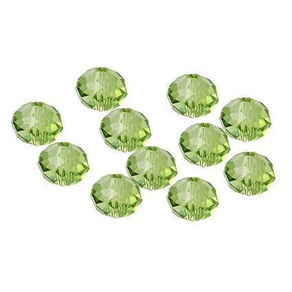Vxhohdoxs cuentas de cristal de 6 mm 10 colores proyectos de bricolaje 300 cuentas en forma de rondelle cuentas de cristal facetadas para bisuter/ía