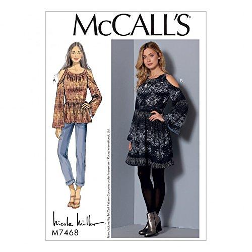 Unbekannt McCall \'s Damen Schnittmuster 7468nbsp;Kalte Schulter ...